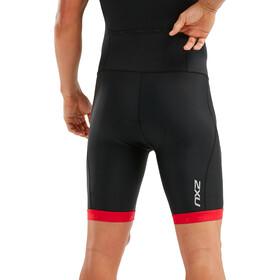 2XU Active Strój triathlonowy Mężczyźni, black/flame scarlet print